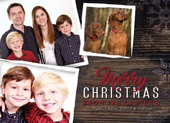 family christmas card template psd