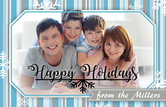 Kids Happy Holidays Card Adobe Illustrator Template