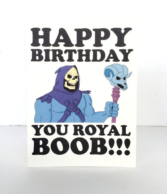 Skeletor birthday card