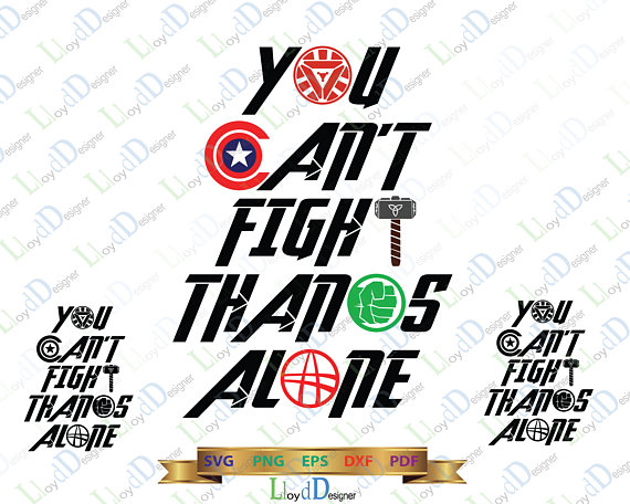 Cant fight Thanos Alone Print