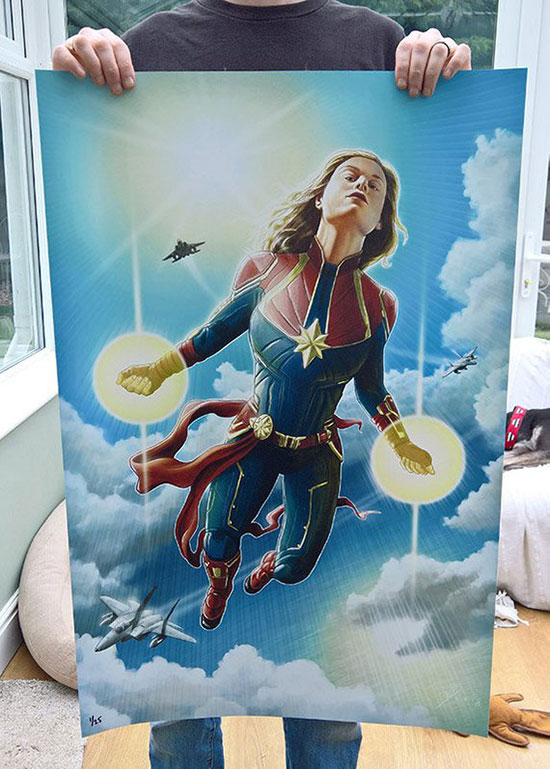 33 x 22 poster of Captain Marvel
