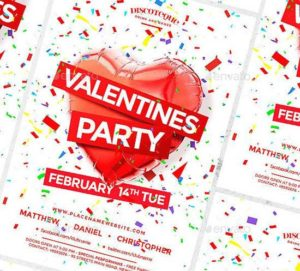 Design Templates for your Valentines Day Party Flyers