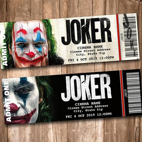 Joker movie tickets