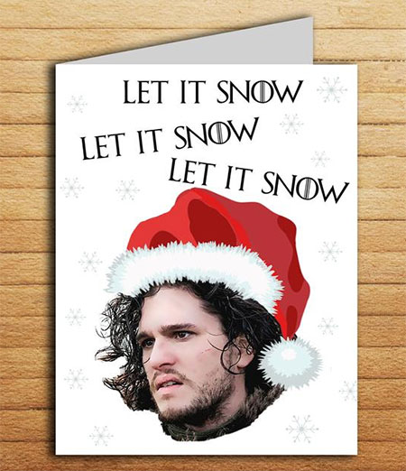 Let is Snow GOT holiday card that is printable