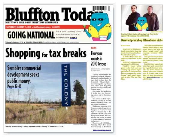 Printkeg featured in Bluffton today