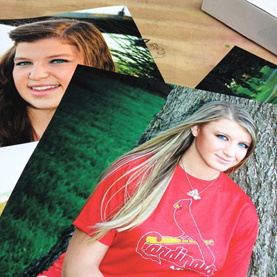 two examples of 8x10 prints