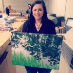 Jessica with a canvas print