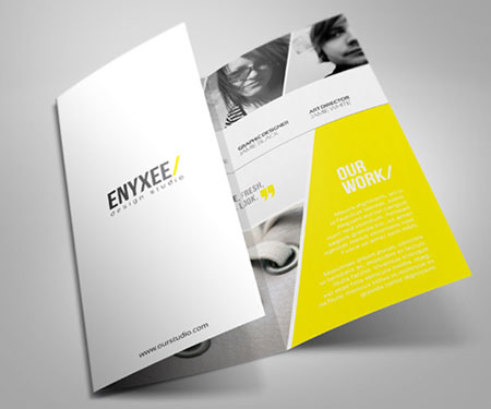 Clean trifold brochure design