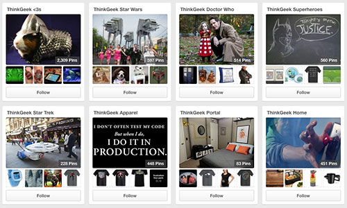 Think Geek on Pinterest