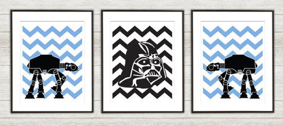 Star Wars Poster set for boys nursery by TheCuttingEdgeShop
