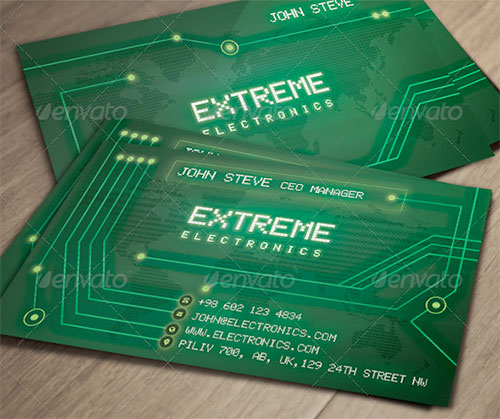 Electronics board business card design