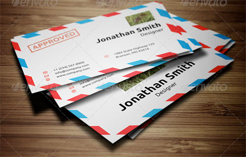 Envelope styled business card template