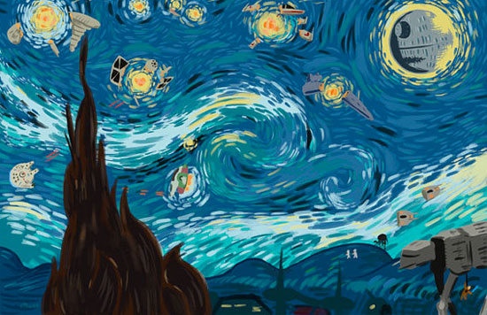Star Wars version of Starry Night