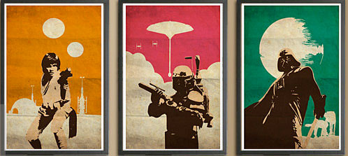 Vintage Star Wars Posters by Posterinspired