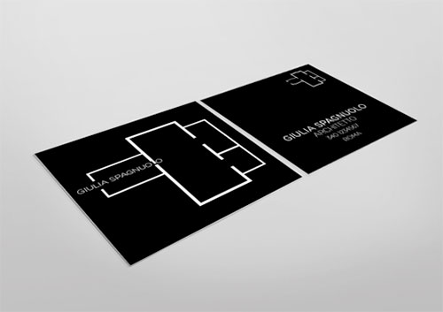 black square business card