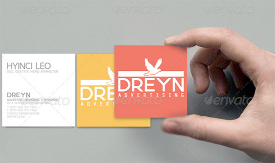 corporate square business cards