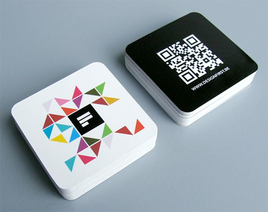 mini square business cards