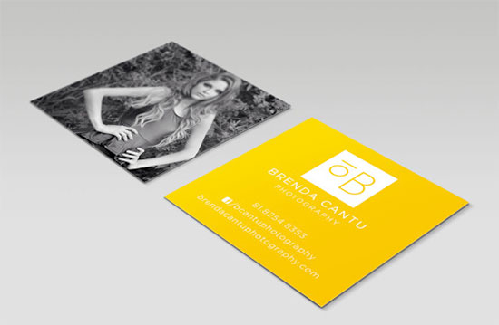 photographer square cards