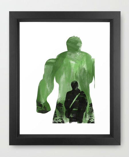 Hulk poster on Society6 by LynxArtCollection