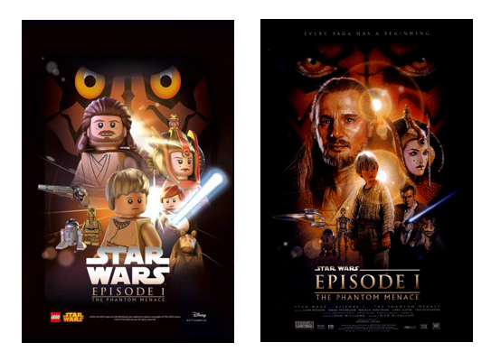 Comparing Star Wars Lego posters with the originals