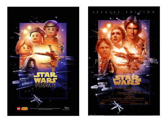 Star Wars Logo Ep4 poster compared to original movie poster