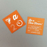Square business card - solid color
