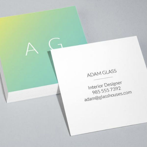 Square business card - minimal
