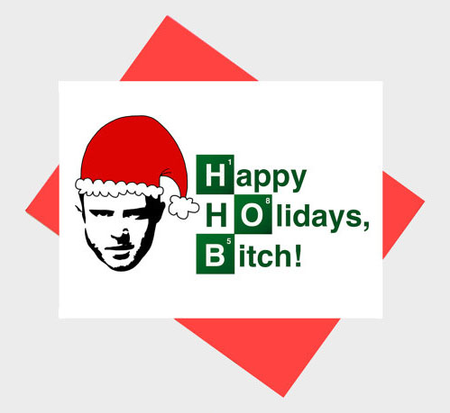 Funny Jesse Pinkman Holiday Card