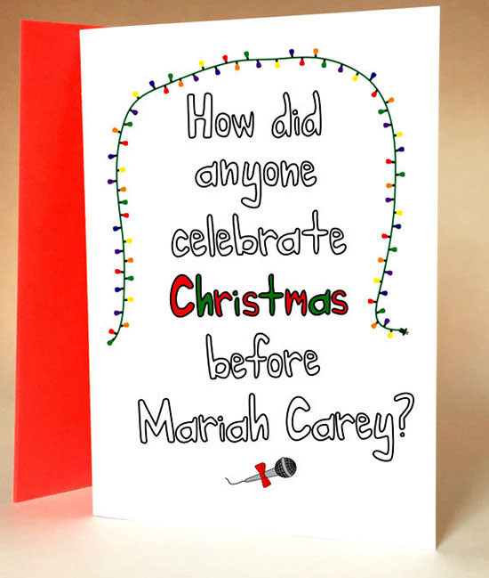 Mariah Carey Holiday Christmas Card