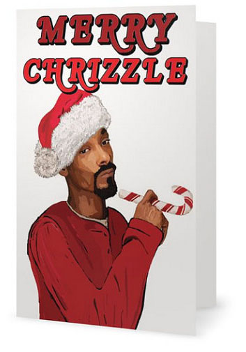 Snoop Dogg Merry Chrizzle Card