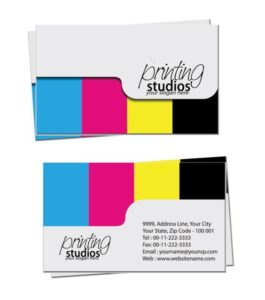 Business Card Designs Embracing CMYK