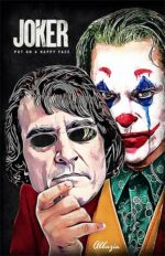 Artwork capturing Joaquin Phoenix's Joker