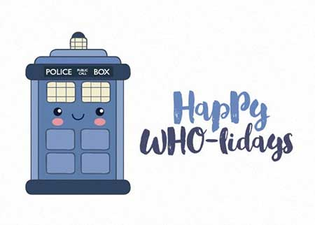 Cute Doctor Who holiday card