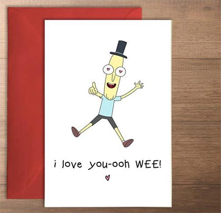 Mr. Poopybutthole I love you card