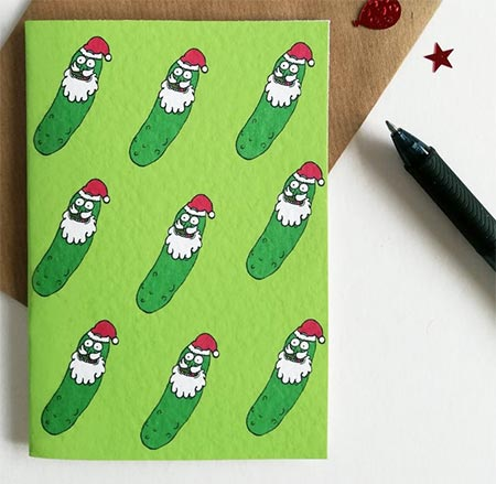 Pickle Rick Christmas Card