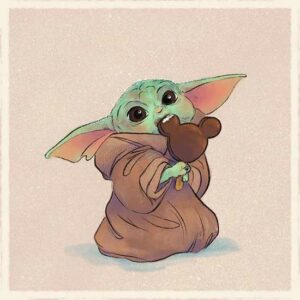 Cute Baby Yoda Artwork, These Are.