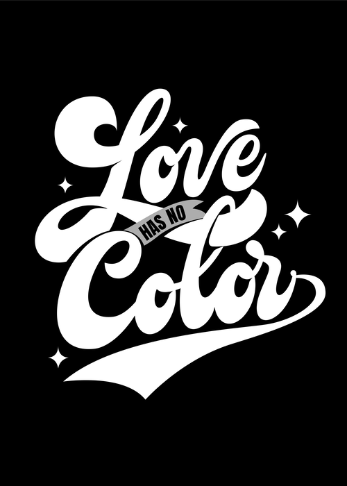 Love has no color posters by Jean Carlos García Suárez