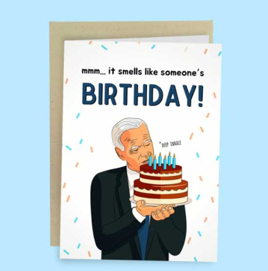 Funny Joe Biden Card