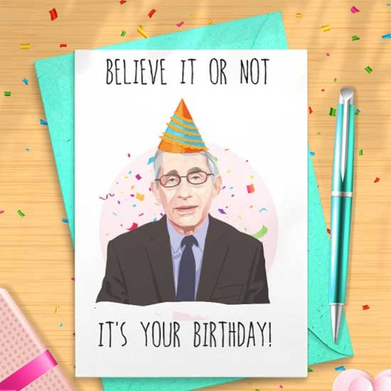 Dr. Fauci birthday card